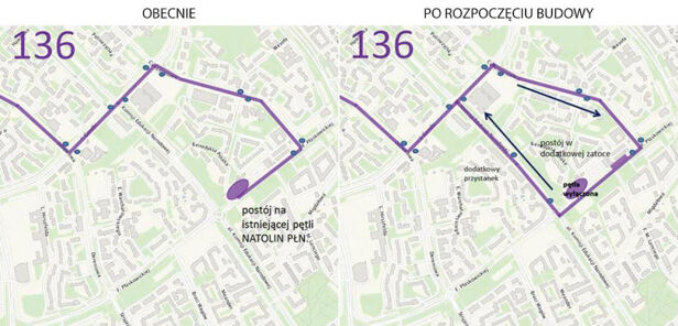 Zmiana trasy linii 136 ZTM