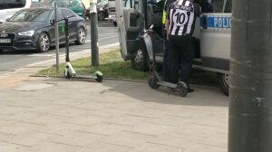 Dwóch nieletnich na hulajnogach potrąconych przez samochód
