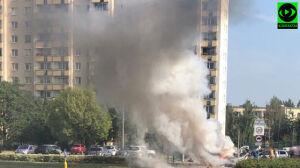 Po wybuchu furgonetki na Bemowie ewakuowano kilkadziesiąt osób