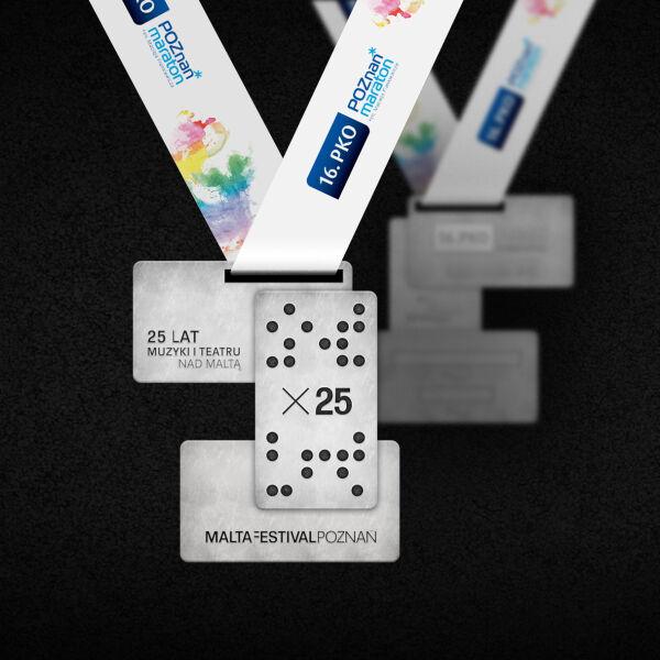 Awers medalu 16. PKO Poznań Maraton
