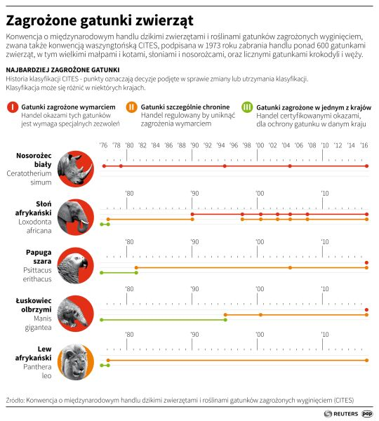 Zagrożone gatunki zwierząt (Maciej Zieliński/PAP/Reuters)
