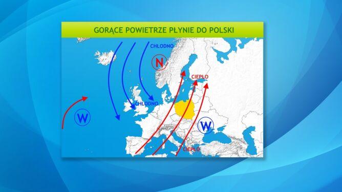 Do Polski napływa gorące powietrze