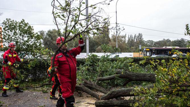 Huraganowy wiatr nad całą Polską. Jedna osoba zginęła, 18 zostało rannych