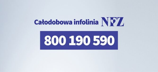 Całodobowa infolinia NFZ (Główny Inspektorat Sanitarny)